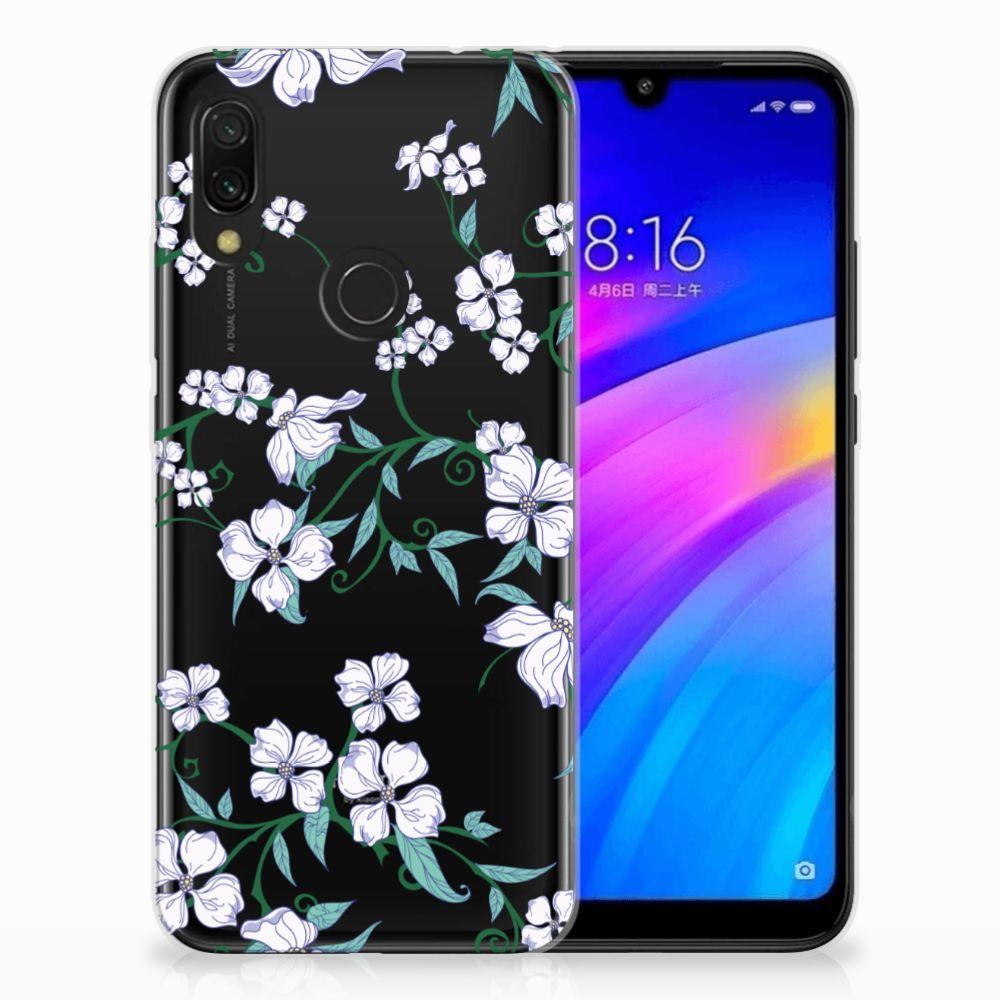 Xiaomi Redmi 7 Uniek TPU Hoesje Blossom White