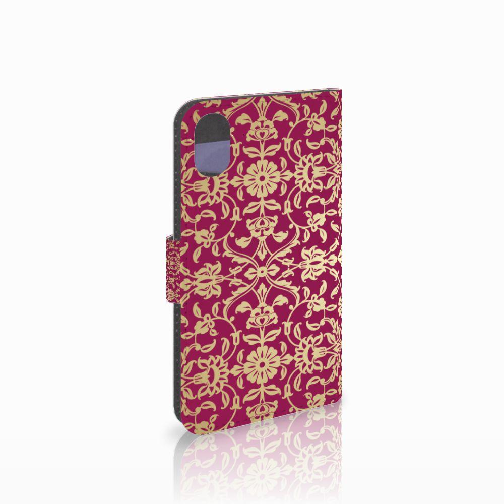 Apple iPhone X | Xs Boekhoesje Design Barok Pink