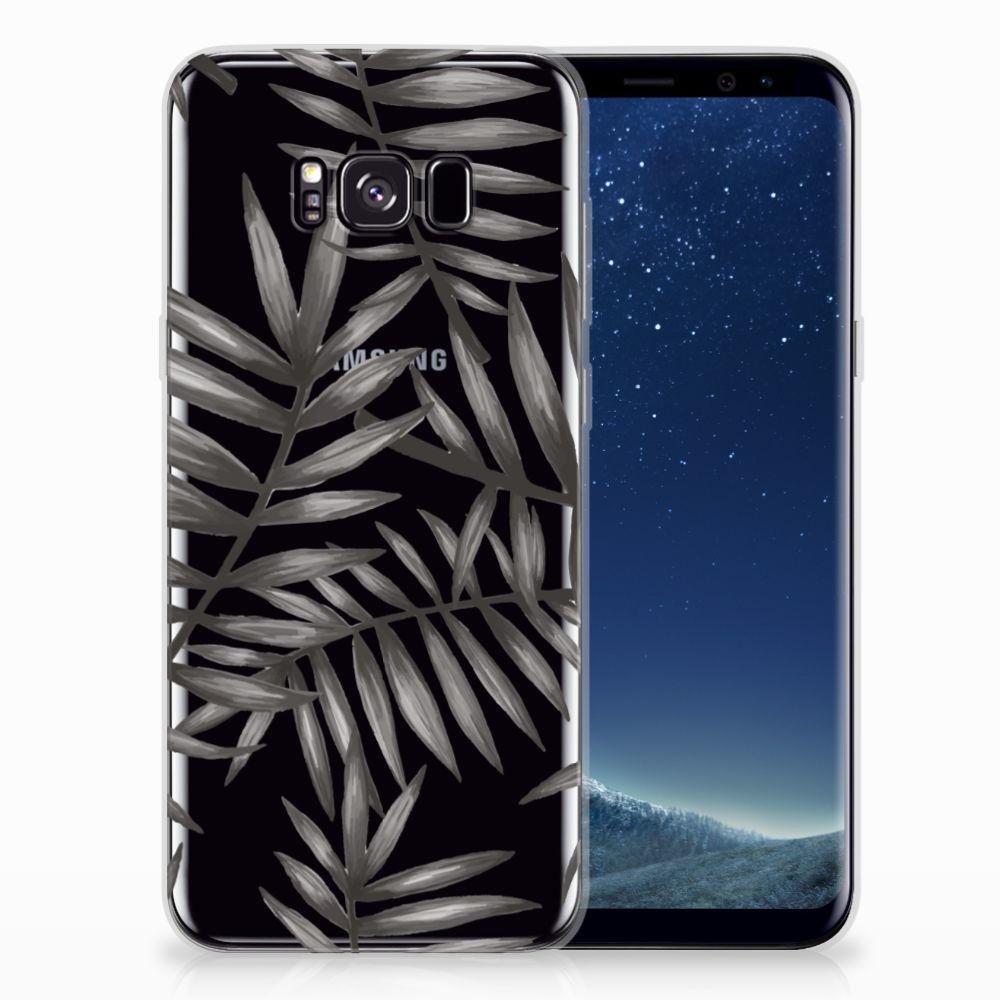 Samsung Galaxy S8 Plus TPU Case Leaves Grey