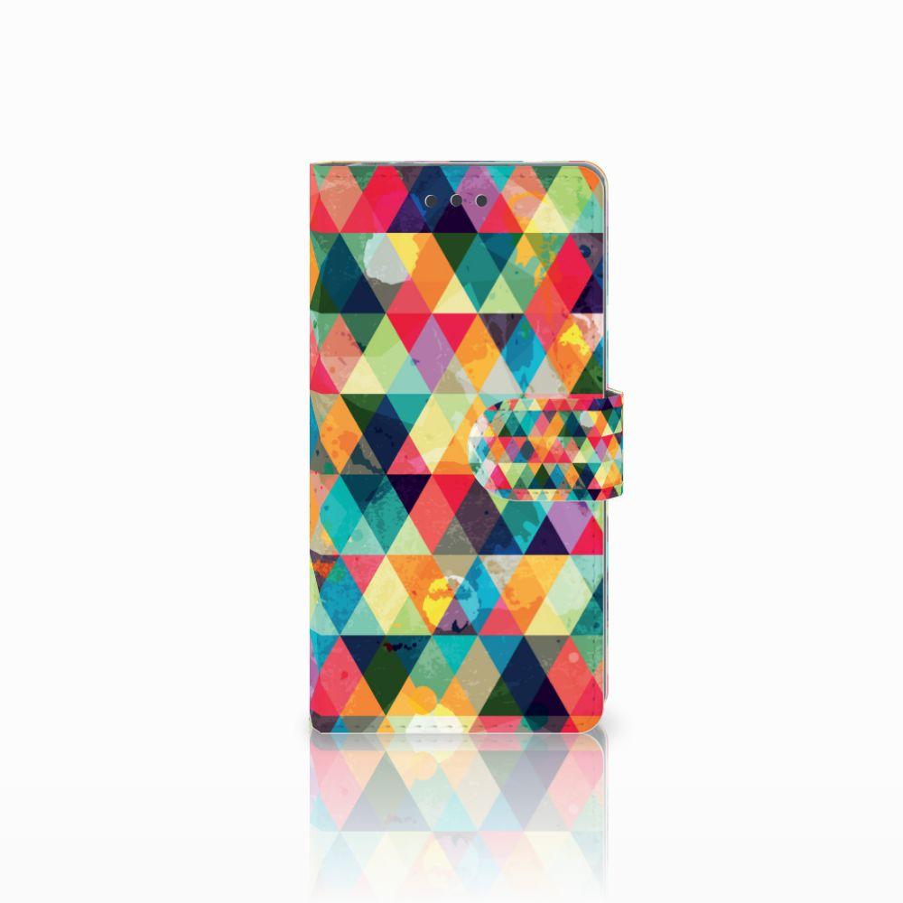 Sony Xperia E5 Uniek Boekhoesje Geruit