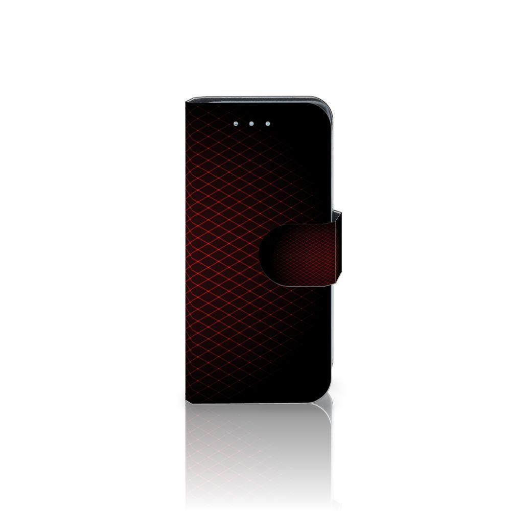 Samsung Galaxy S4 Mini i9190 Uniek Boekhoesje Geruit Rood