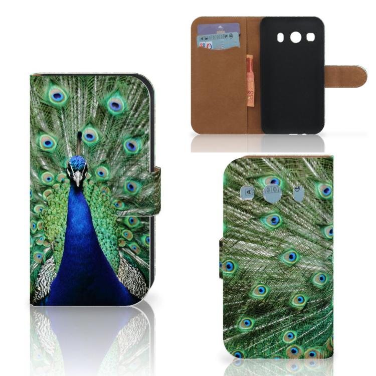 Samsung Galaxy Ace 4 4G (G357-FZ) Telefoonhoesje met Pasjes Pauw