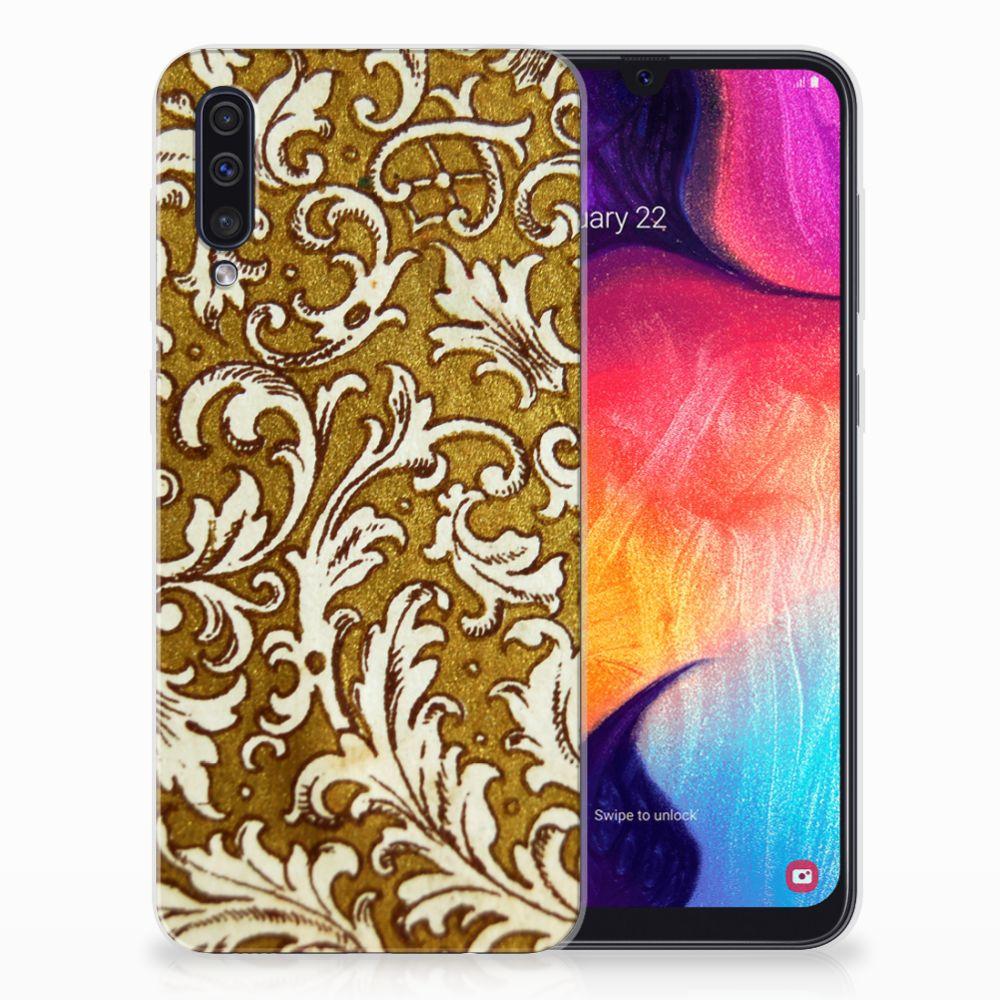 Siliconen Hoesje Samsung Galaxy A50 Barok Goud