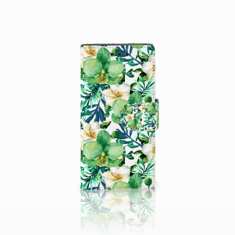 Sony Xperia Z5 Compact Uniek Boekhoesje Orchidee Groen