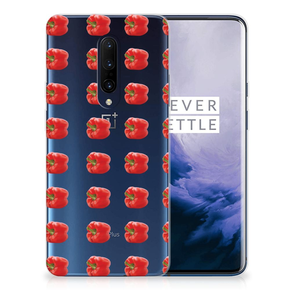 OnePlus 7 Pro Siliconen Case Paprika Red