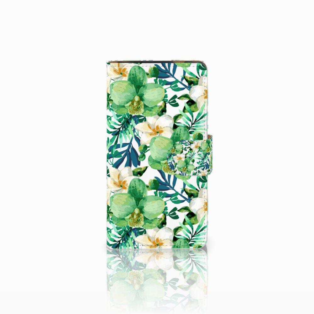 HTC Desire 601 Uniek Boekhoesje Orchidee Groen