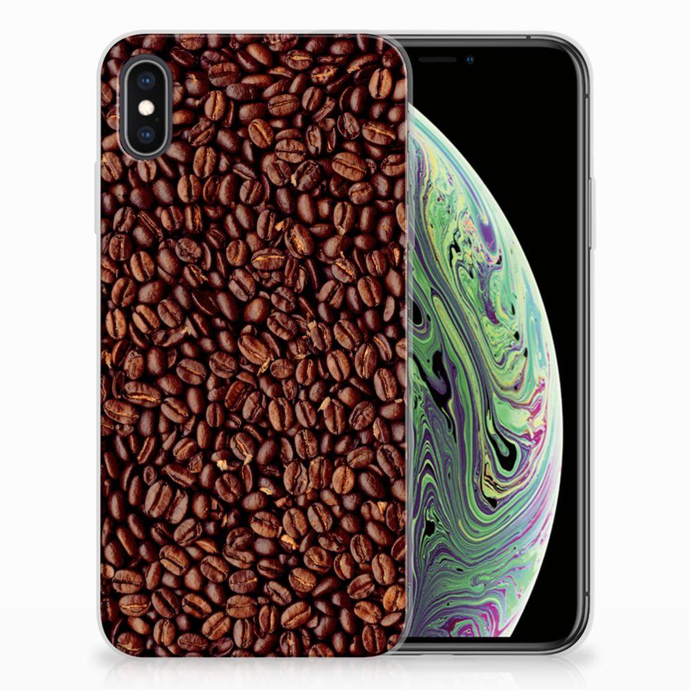 Apple iPhone Xs Max Siliconen Case Koffiebonen