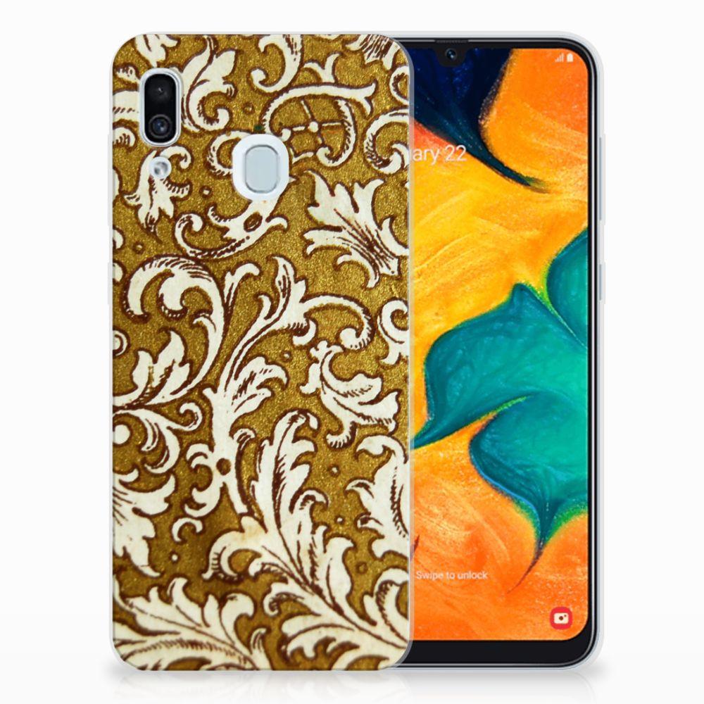 Siliconen Hoesje Samsung Galaxy A30 Barok Goud