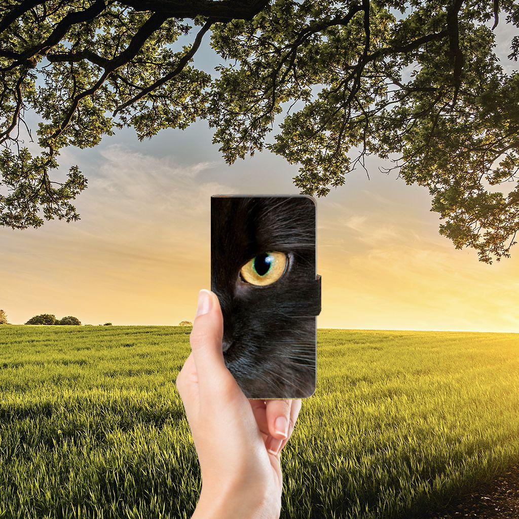 Google Pixel Telefoonhoesje met Pasjes Zwarte Kat