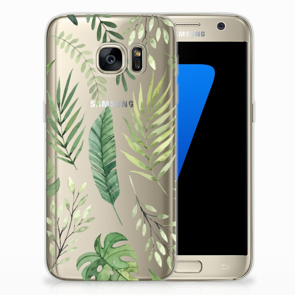 Samsung Galaxy S7 Uniek TPU Hoesje Leaves
