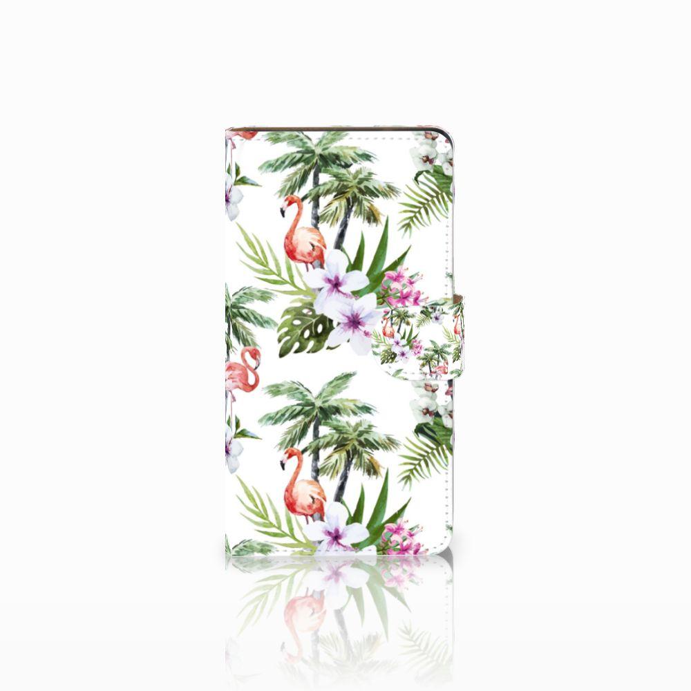 Huawei Ascend G700 Boekhoesje Design Flamingo Palms