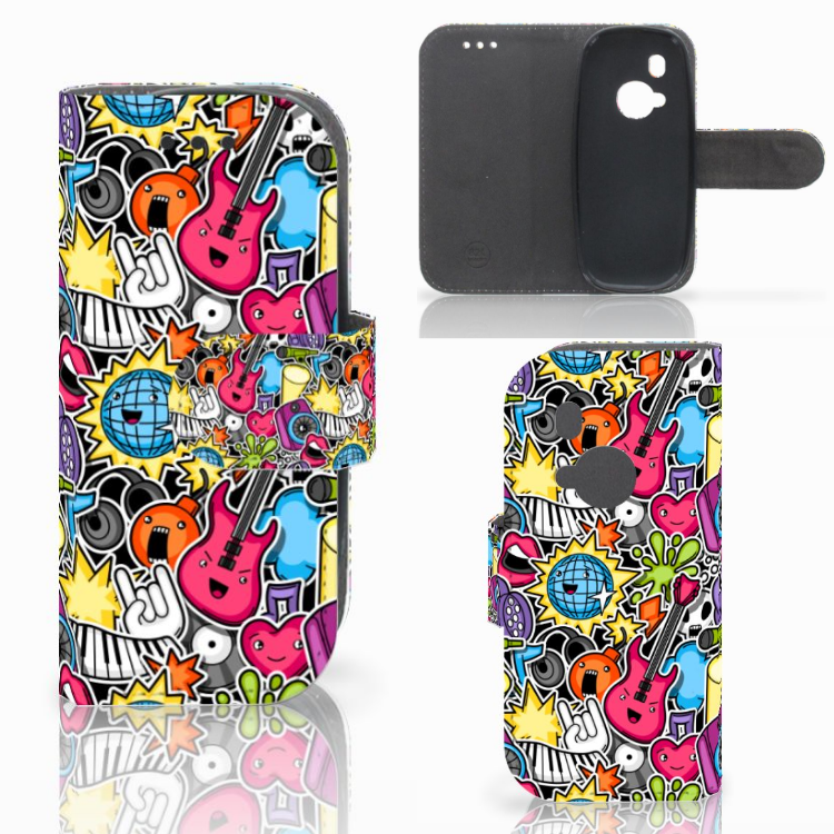 Nokia 3310 (2017) Wallet Case met Pasjes Punk Rock