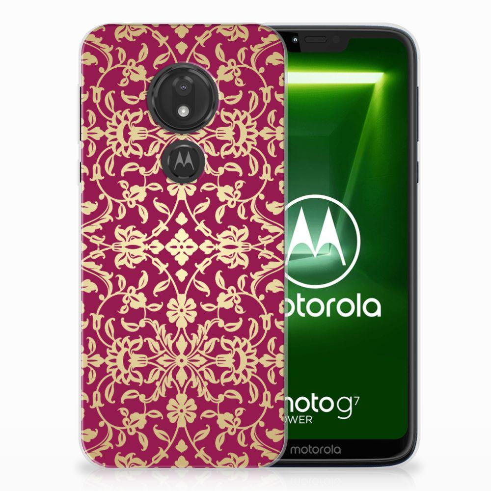 Motorola Moto G7 Power TPU Hoesje Design Barok Pink