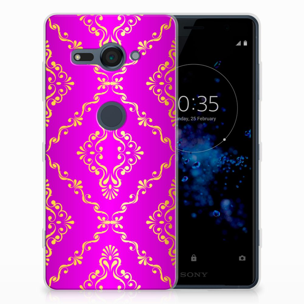 Siliconen Hoesje Sony Xperia XZ2 Compact Barok Roze