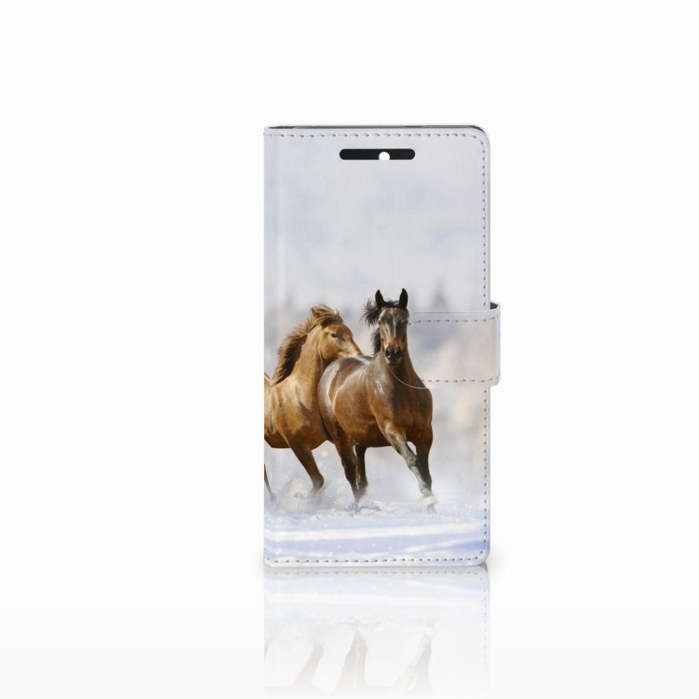 HTC Desire 628 Uniek Boekhoesje Paarden
