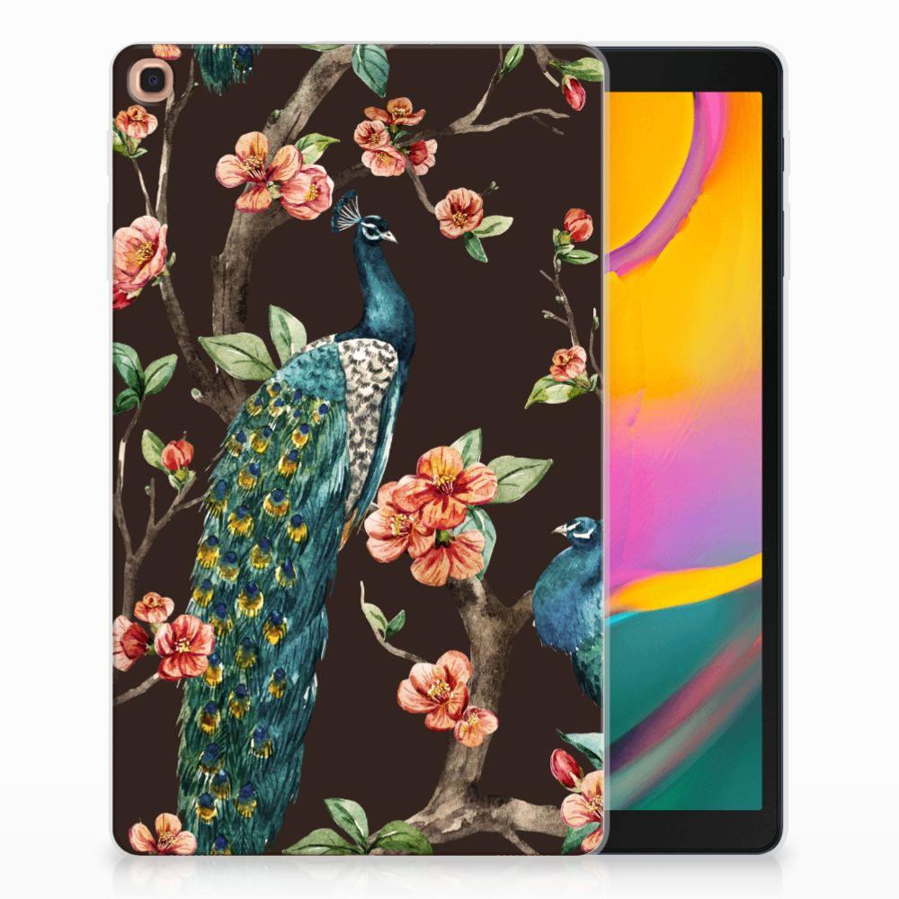 Samsung Galaxy Tab A 10.1 (2019) Back Case Pauw met Bloemen