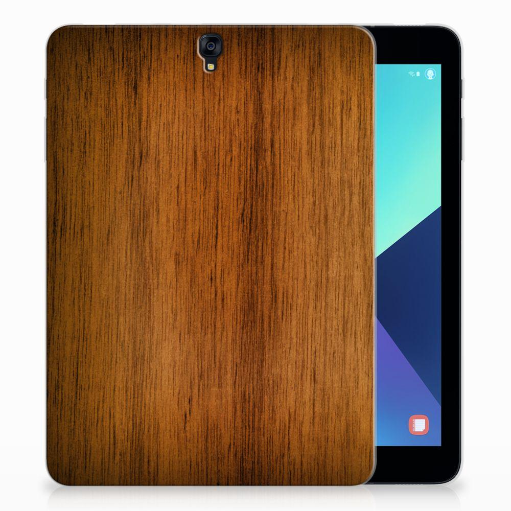 Samsung Galaxy Tab S3 9.7 Uniek Tablethoesje Donker Hout