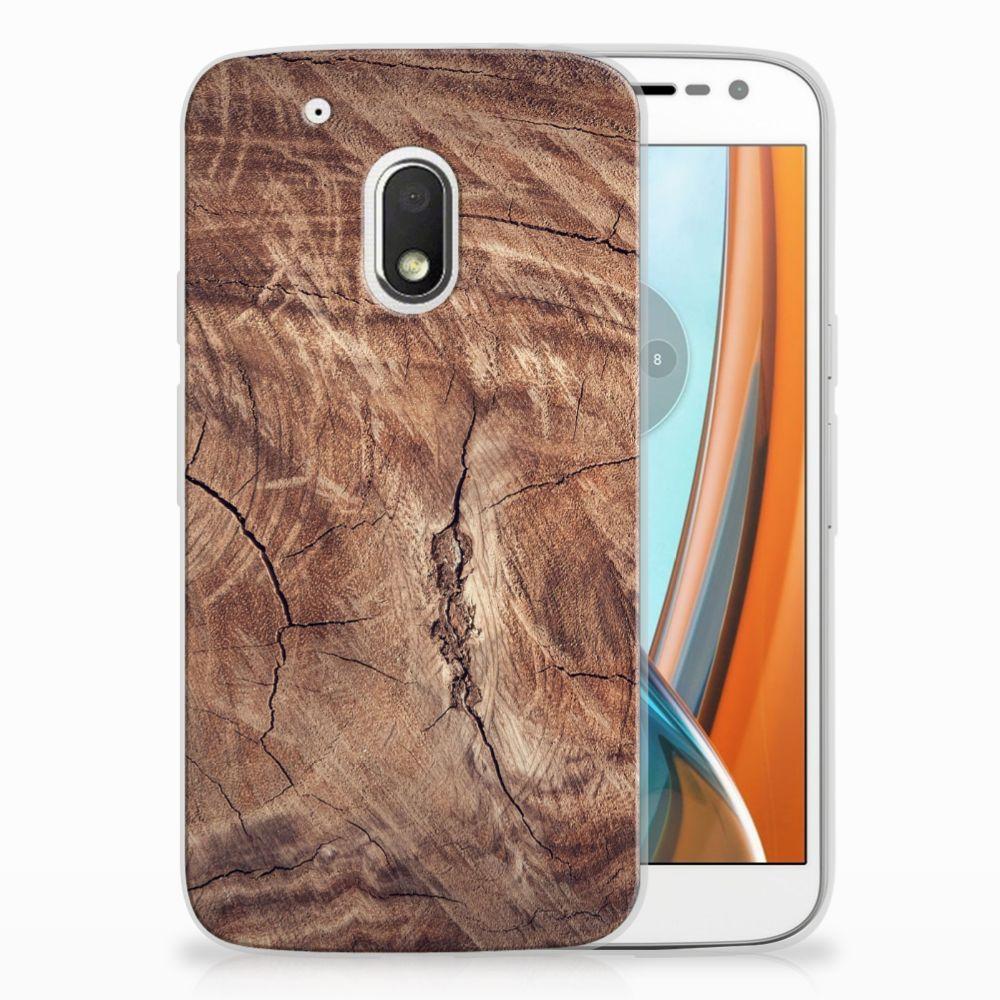 Motorola Moto G4 Play TPU Hoesje Design Tree Trunk