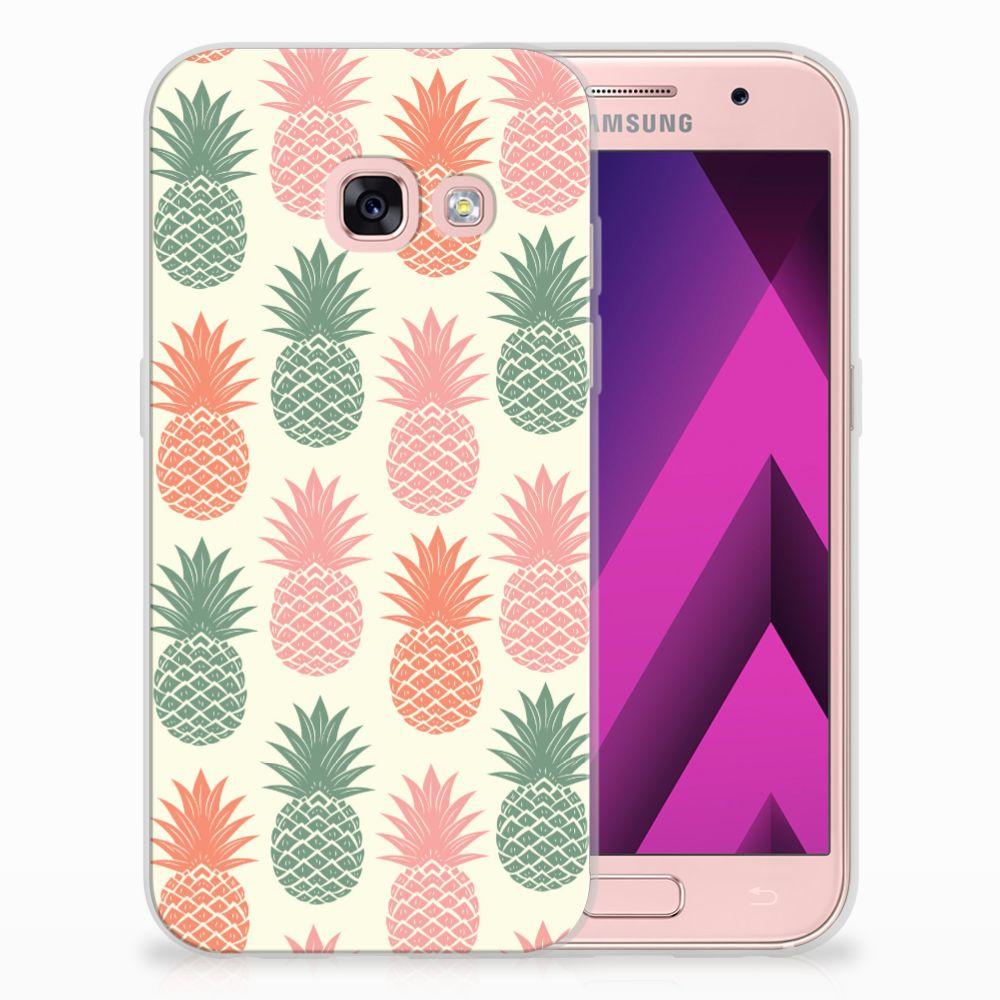Samsung Galaxy A3 2017 TPU Hoesje Design Ananas