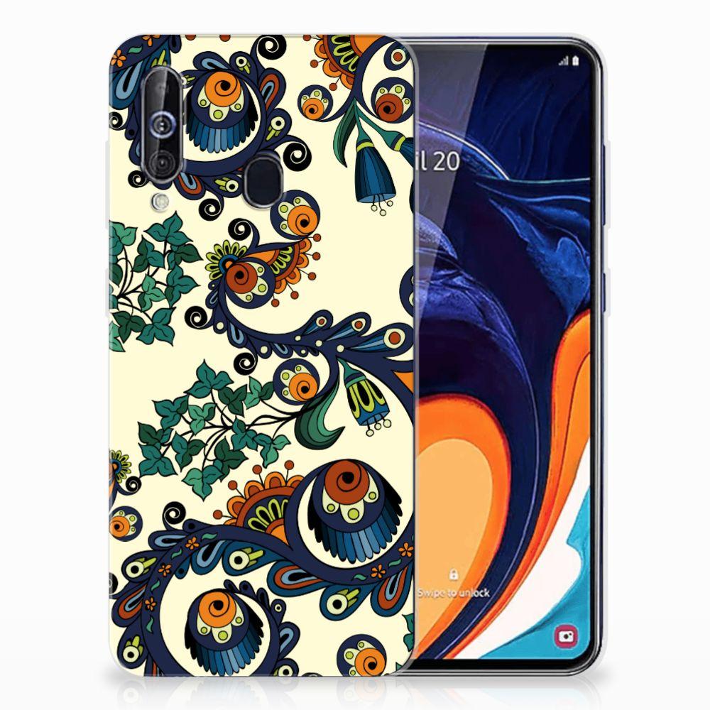 Siliconen Hoesje Samsung Galaxy A60 Barok Flower