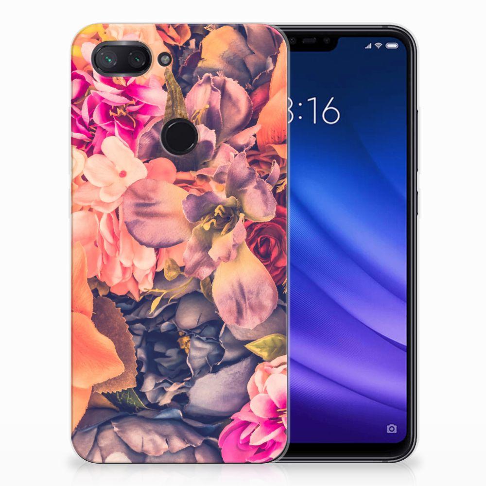Xiaomi Mi 8 Lite TPU Hoesje Design Bosje Bloemen