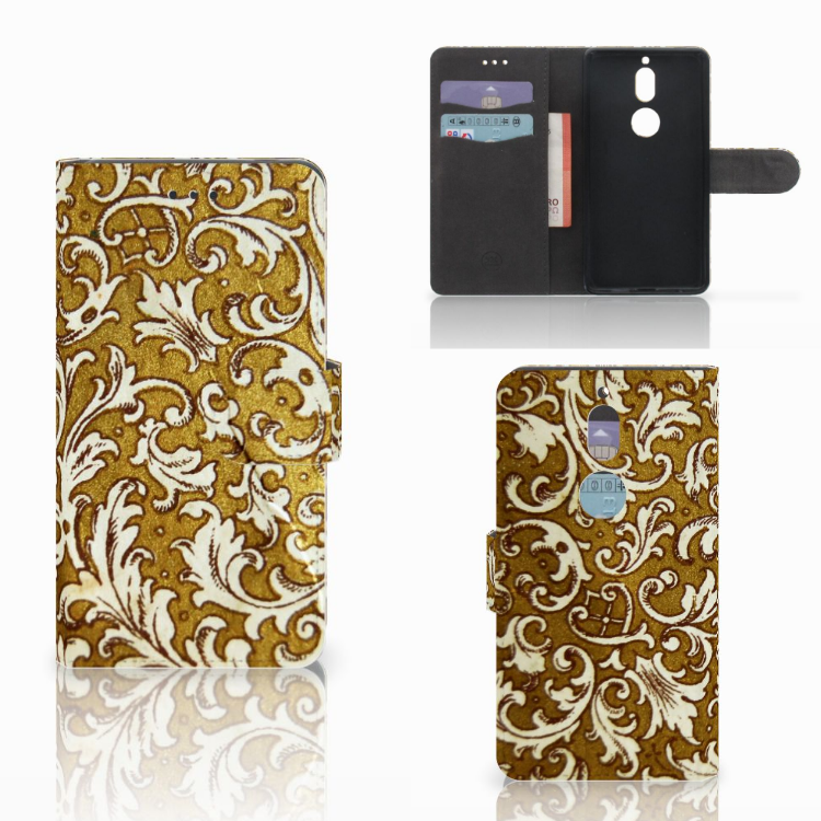 Wallet Case Nokia 7 Barok Goud