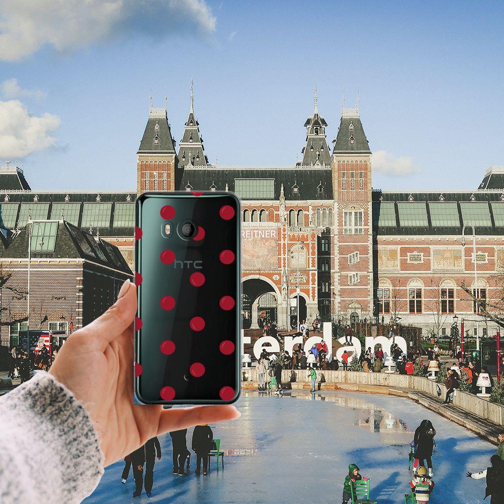 HTC U11 Siliconen Case Cherries