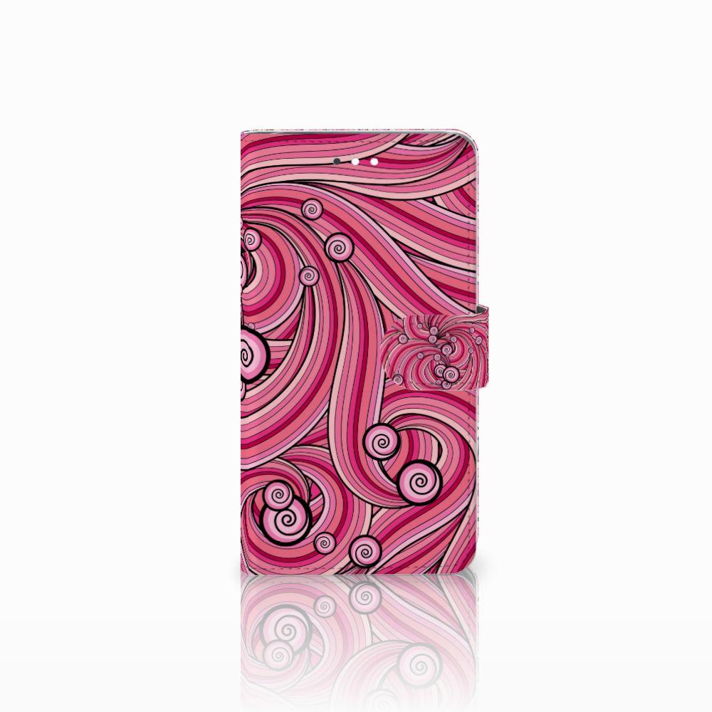 Huawei Ascend G7 Uniek Boekhoesje Swirl Pink
