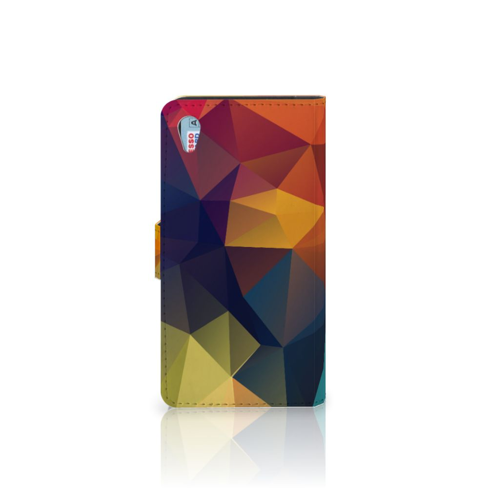 Sony Xperia Z3 Bookcase Polygon Color