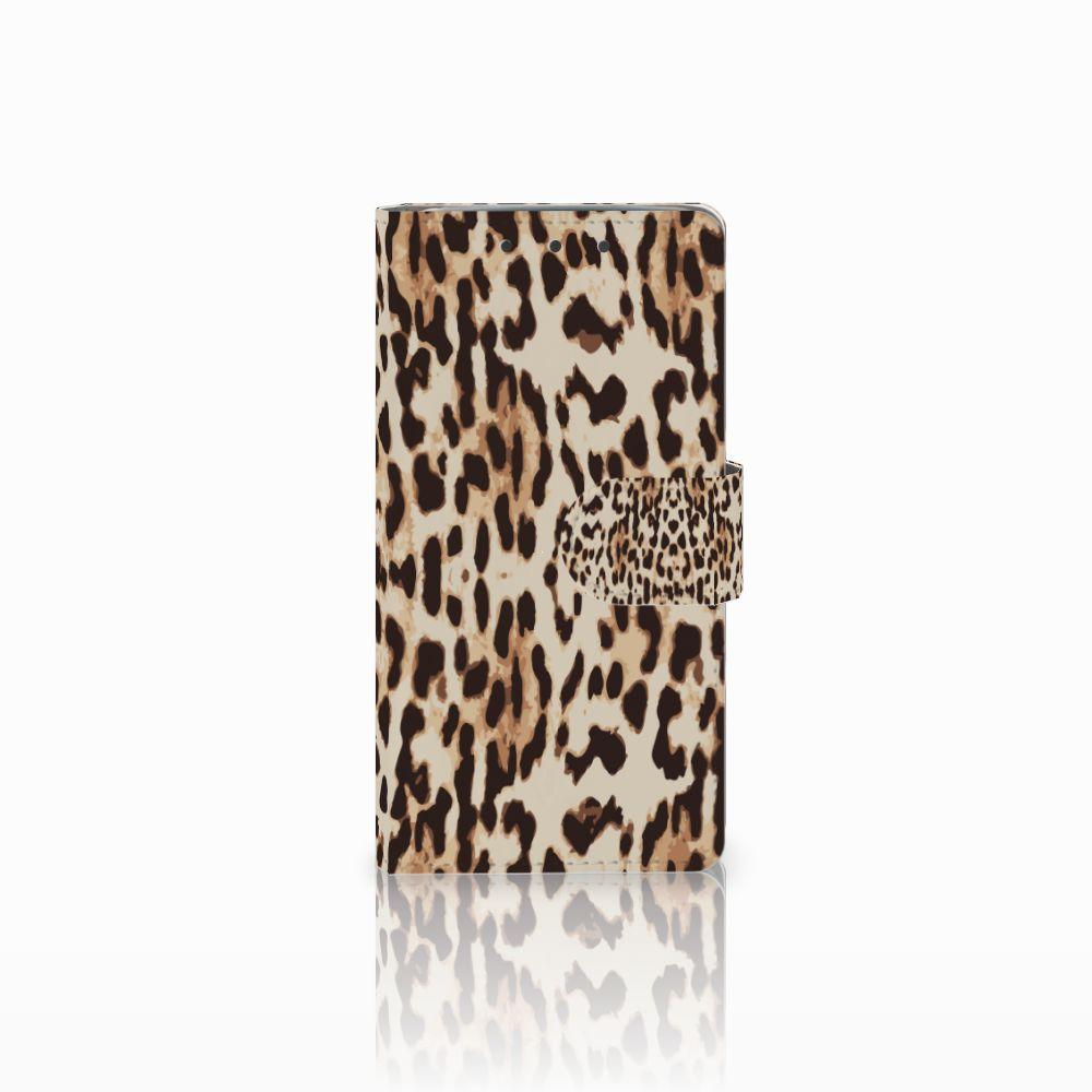HTC One M7 Uniek Boekhoesje Leopard