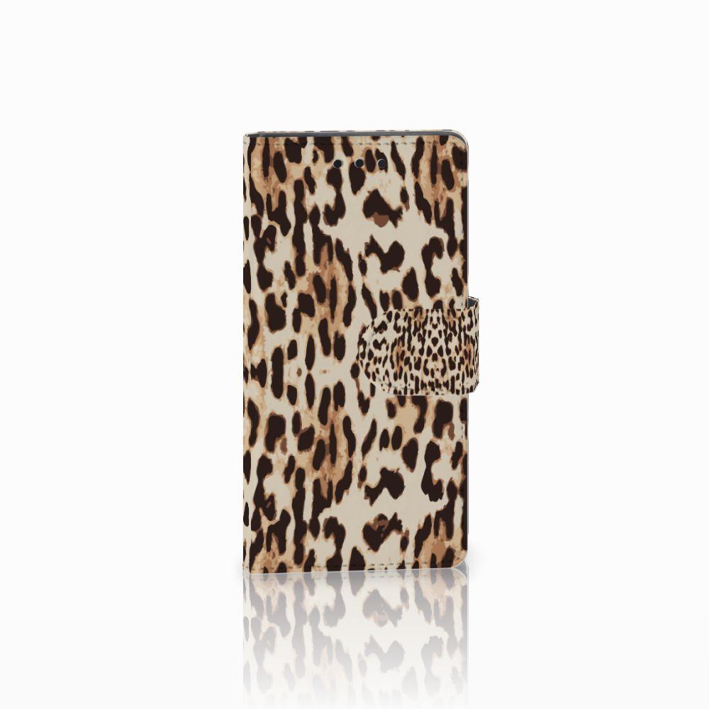 Sony Xperia Z5 Compact Uniek Boekhoesje Leopard