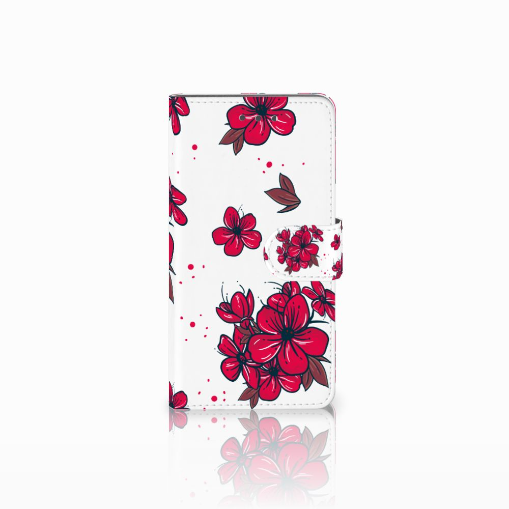 Wiko Fever (4G) Boekhoesje Design Blossom Red