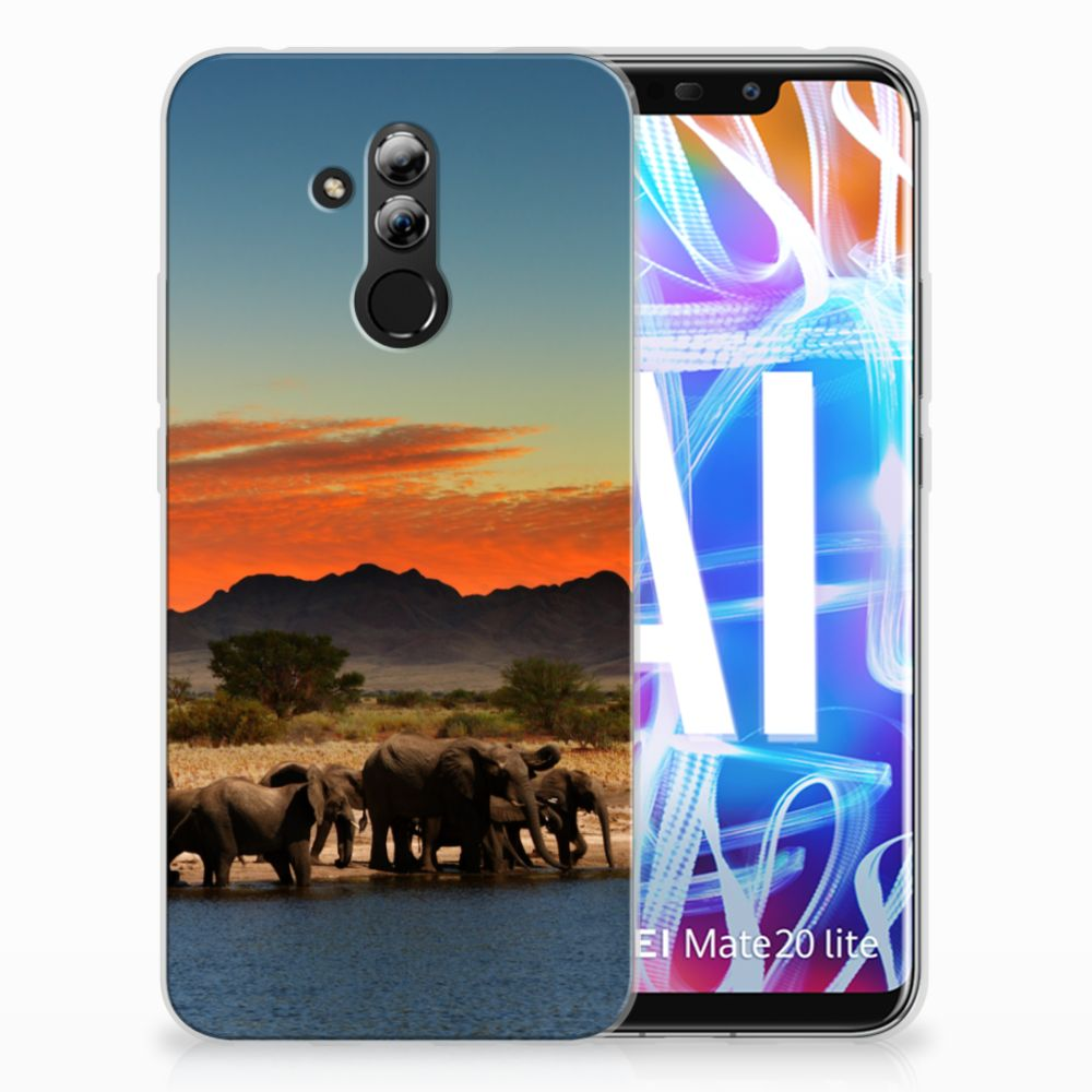 Huawei Mate 20 Lite TPU Hoesje Olifanten
