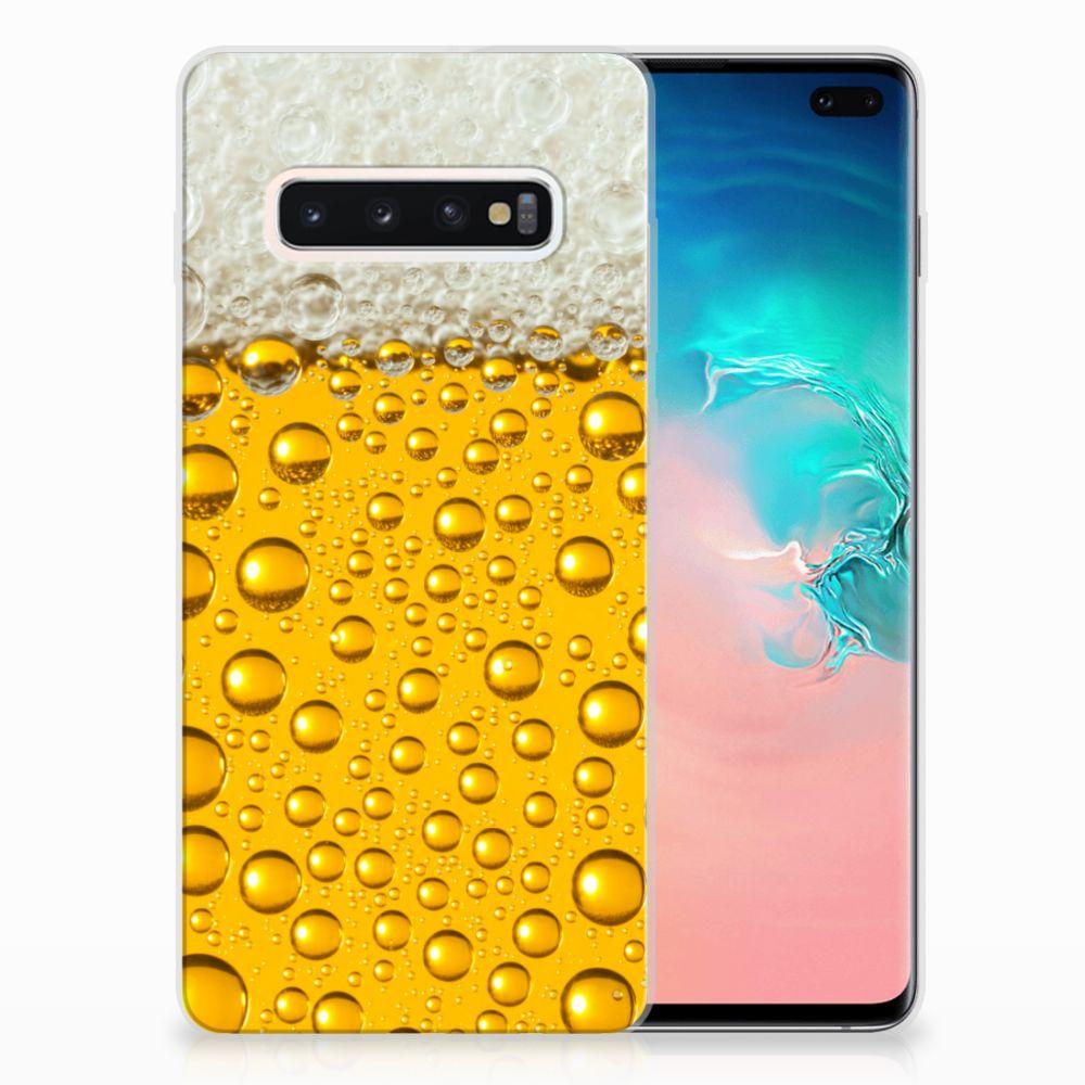 Samsung Galaxy S10 Plus Siliconen Case Bier