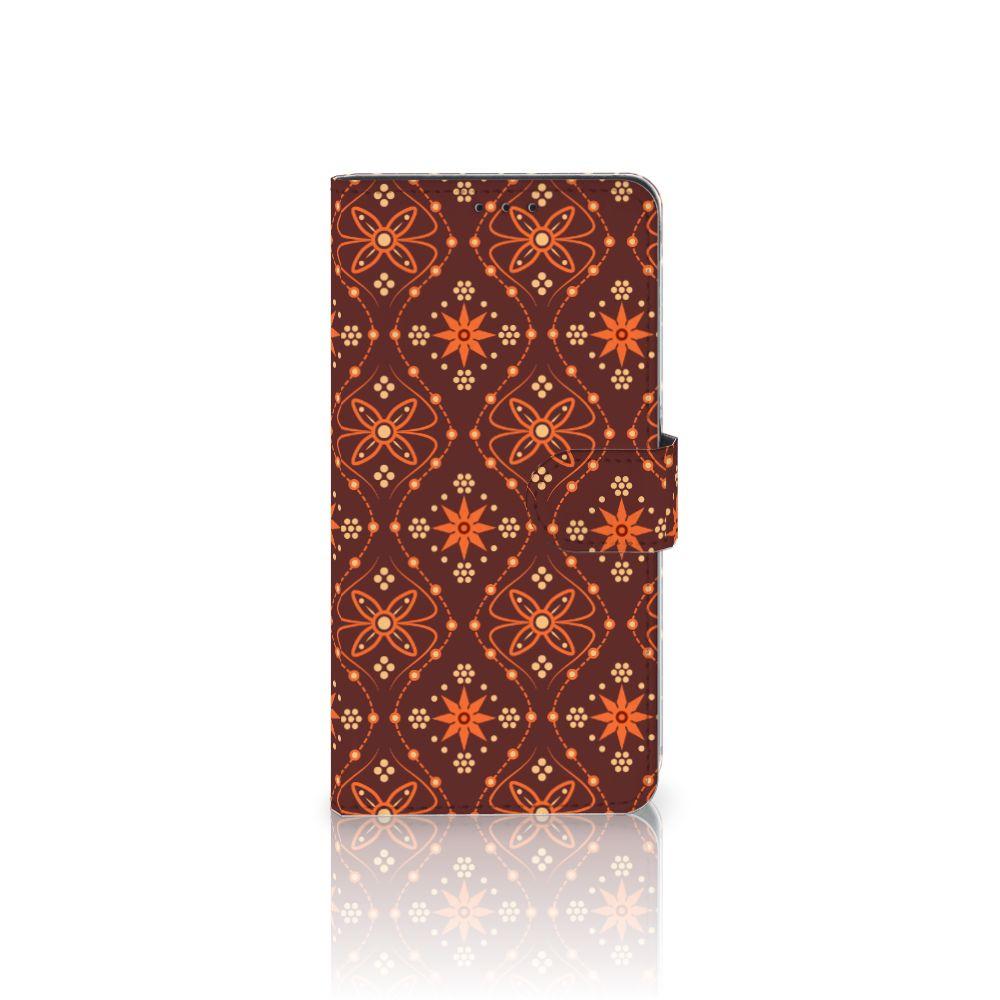 Samsung Galaxy A8 Plus (2018) Uniek Boekhoesje Batik Brown