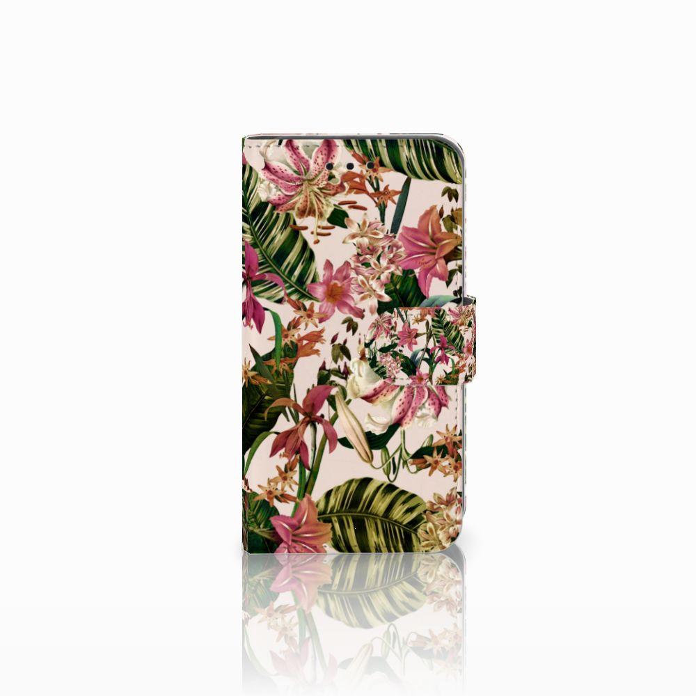 Microsoft Lumia 550 Uniek Boekhoesje Flowers