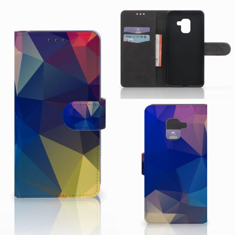 Samsung Galaxy A8 2018 Bookcase Polygon Dark