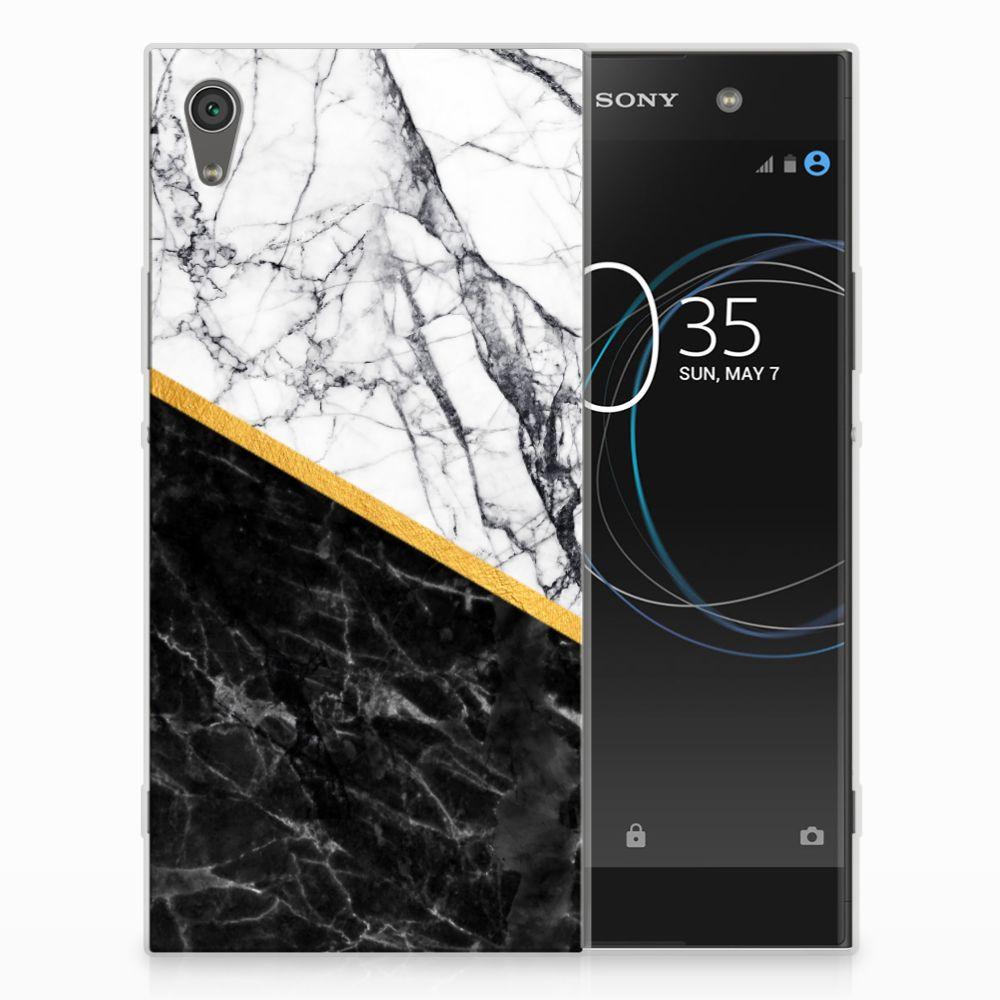 Sony Xperia XA1 Ultra Uniek TPU Hoesje Marble White Black