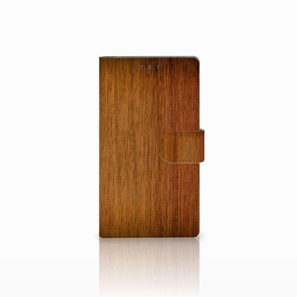 Samsung Galaxy Note 3 Uniek Boekhoesje Donker Hout
