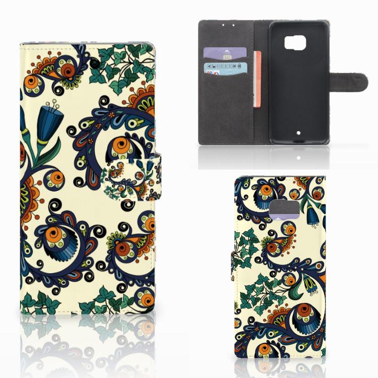 Wallet Case HTC U Ultra Barok Flower
