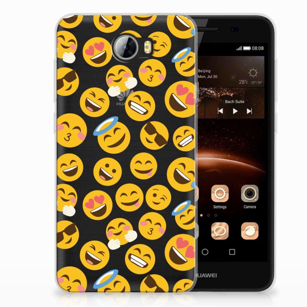 Huawai Y5 II | Y6 II Compact TPU Hoesje Design Emoji