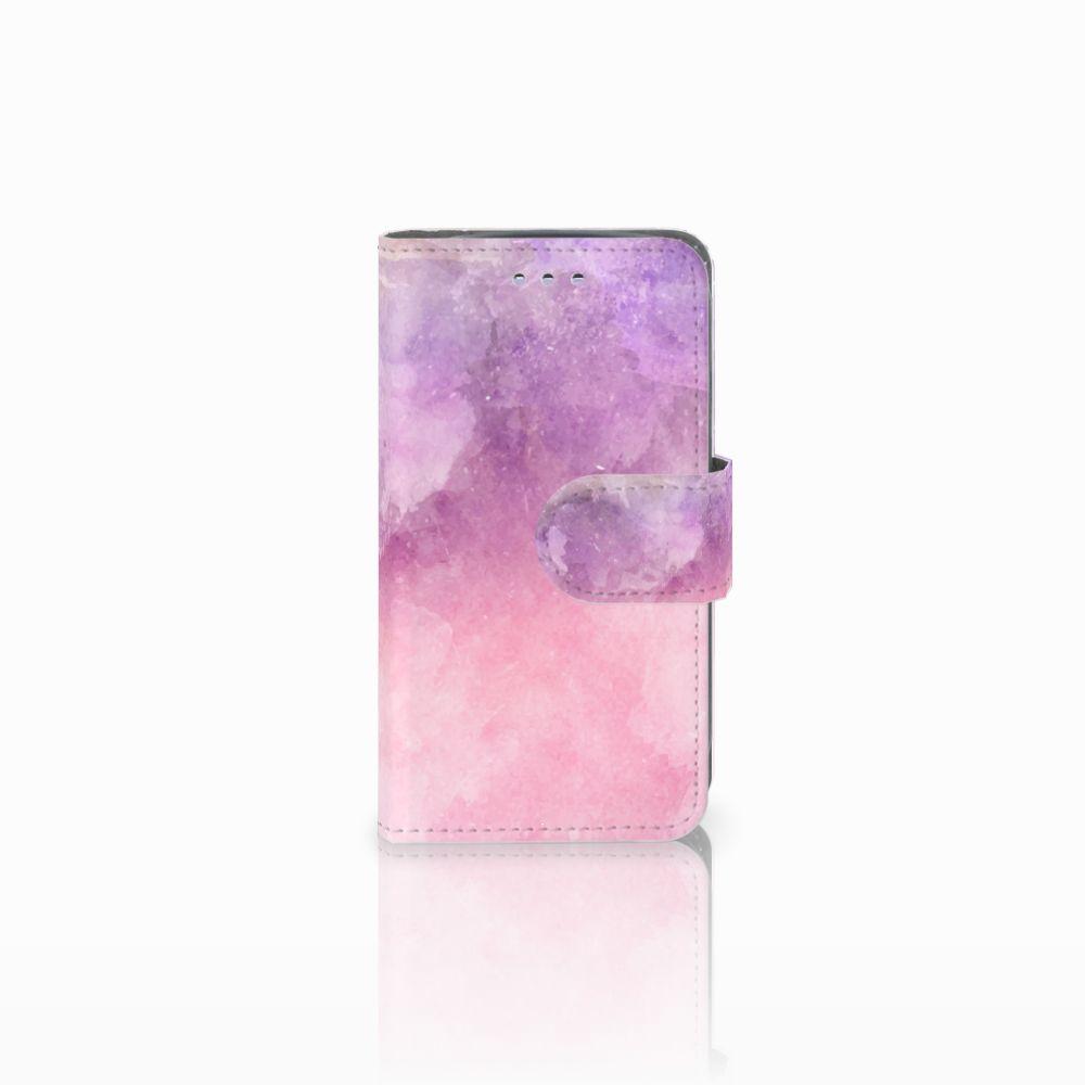 Samsung Galaxy S3 Mini Boekhoesje Design Pink Purple Paint