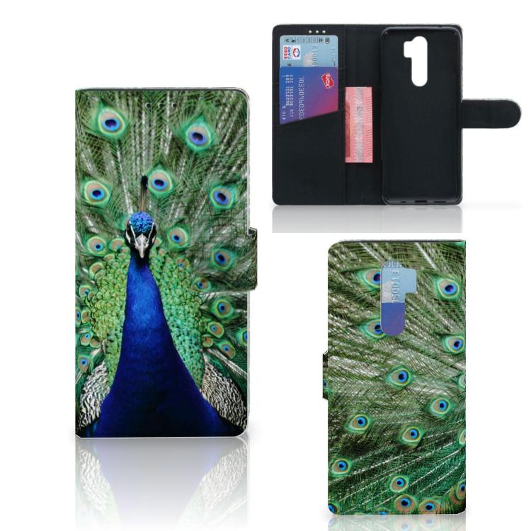 Xiaomi Note 8 Pro Telefoonhoesje met Pasjes Pauw