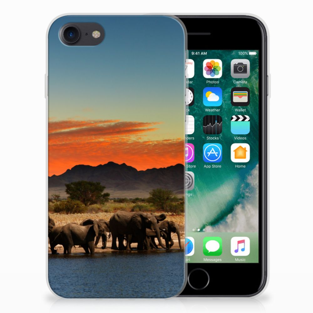 Apple iPhone 7 | 8 TPU Hoesje Design Olifanten