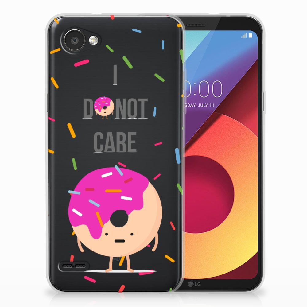LG Q6 | LG Q6 Plus Siliconen Case Donut Roze