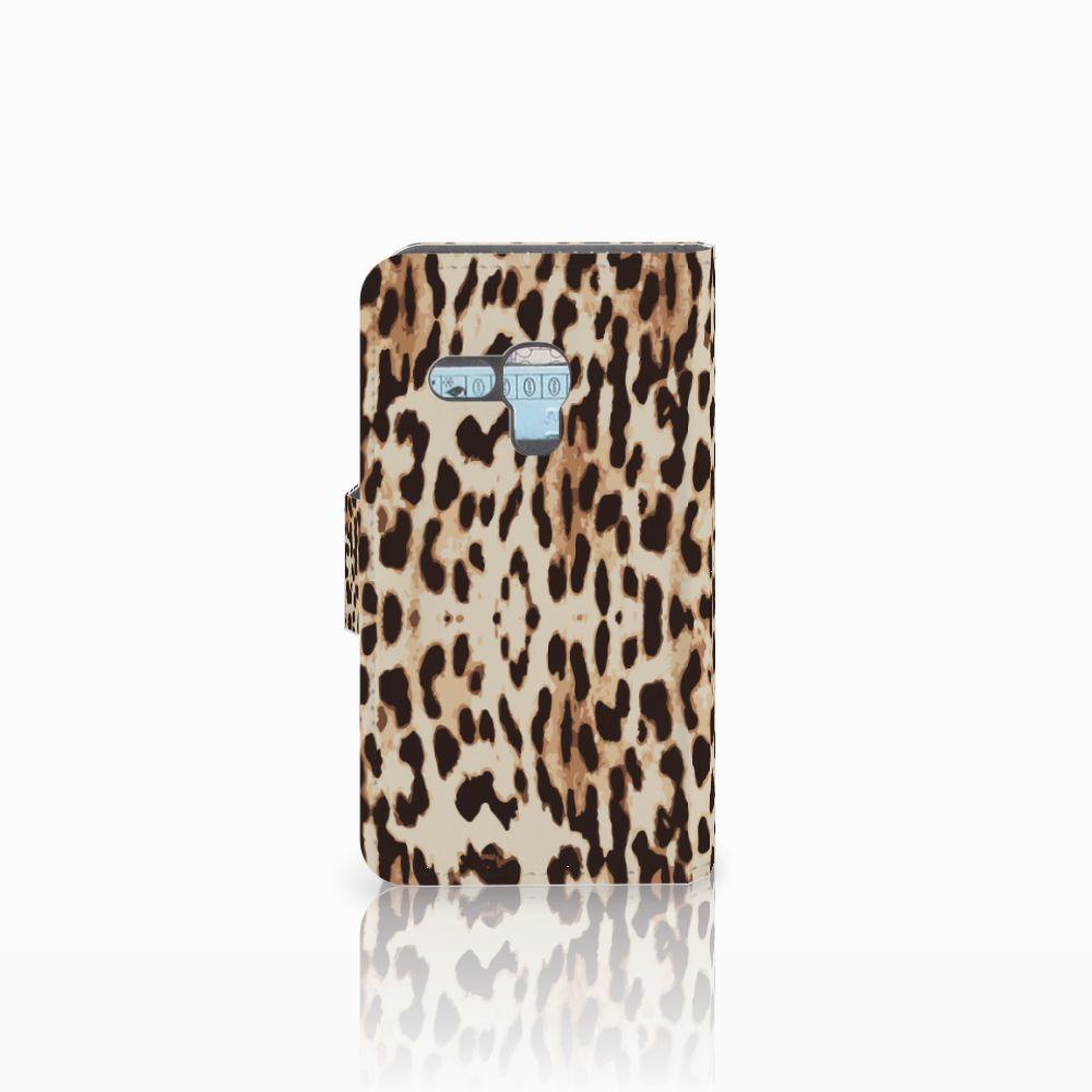Samsung Galaxy S3 Mini Telefoonhoesje met Pasjes Leopard
