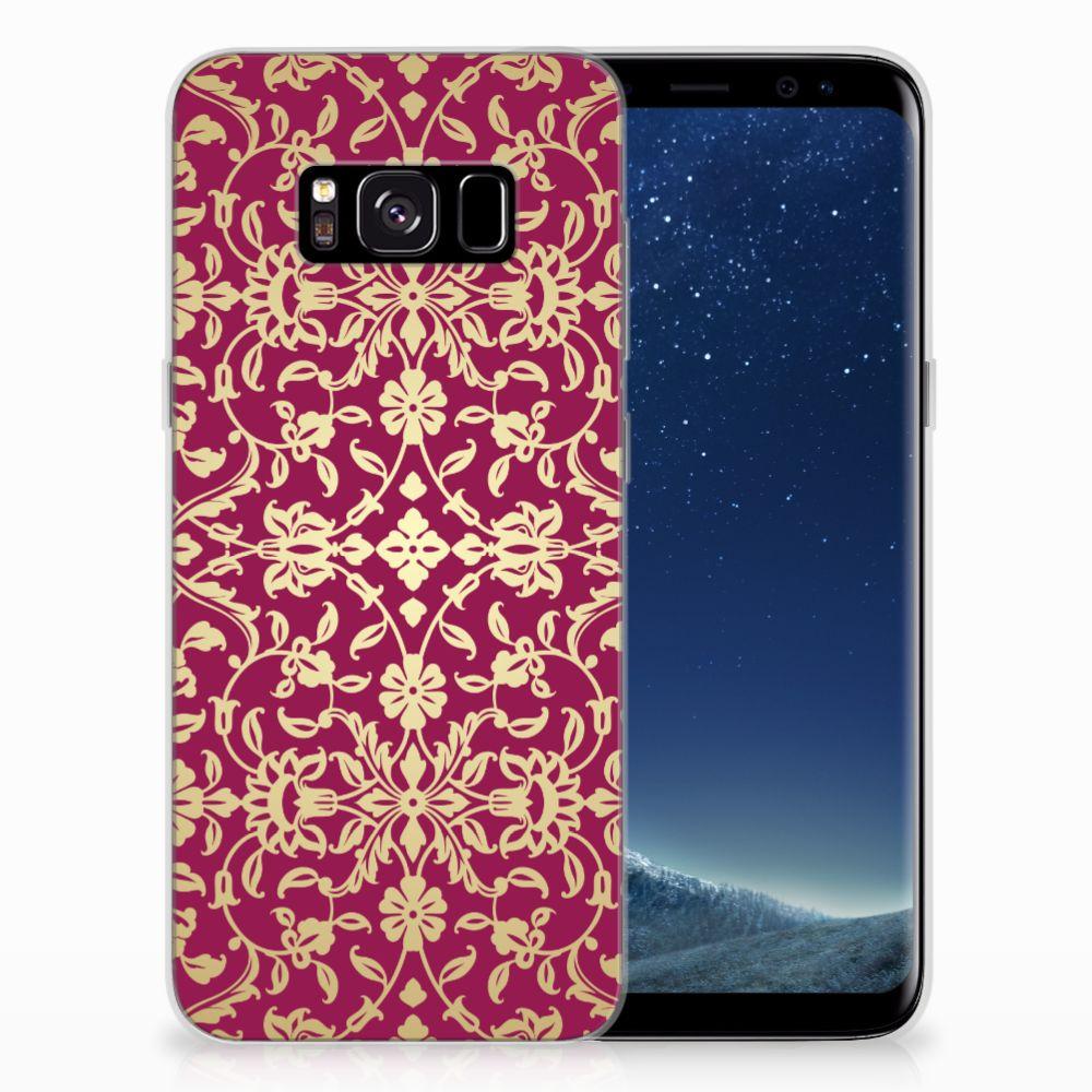 Siliconen Hoesje Samsung Galaxy S8 Barok Pink