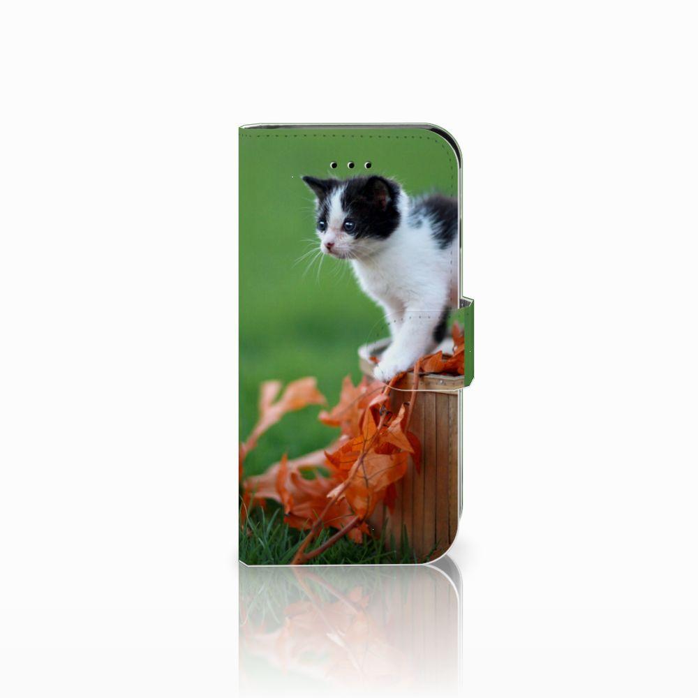 Apple iPhone 6   6s Uniek Boekhoesje Kitten