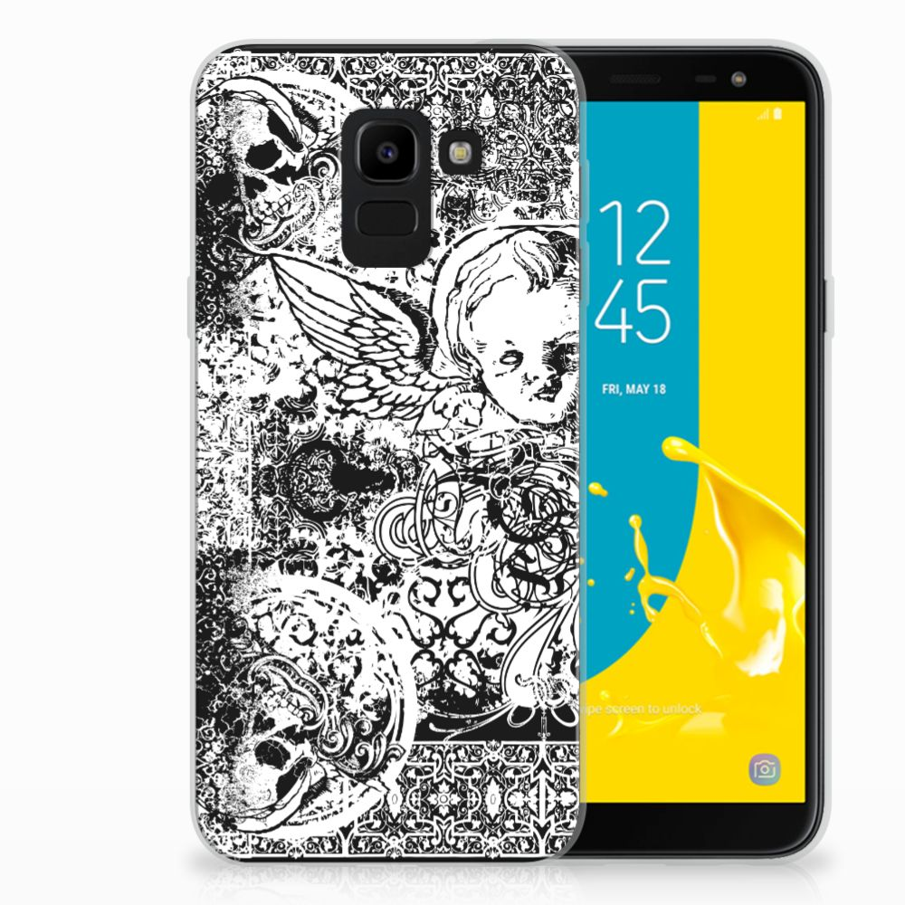 Samsung Galaxy J6 2018 TPU Hoesje Design Skulls Angel