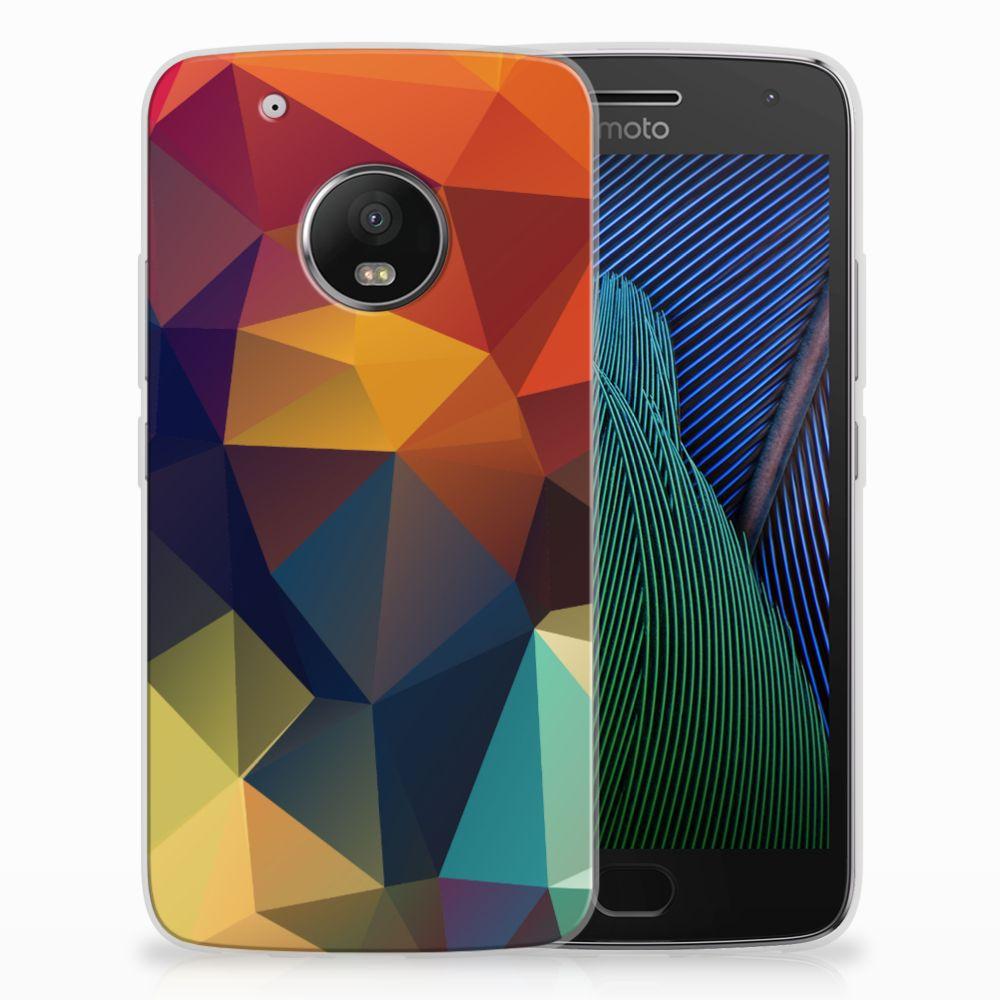 Motorola Moto G5 Plus TPU Hoesje Polygon Color